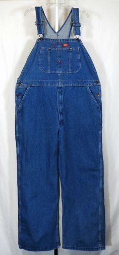 Dickies Carpenter Bib Overalls Size 40X30 Stonewashed Indigo Blue Denim NWOT #Dickies #Overalls
