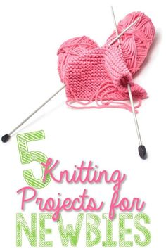 5 Knitting Projects Perfect for Beginners. For more easy and free baby knitting ideas, head to http://www.sewinlove.com.au/category/knitting/