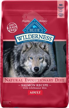 Blue Buffalo Wilderness Salmon Recipe Grain Free Dry Dog Food 24 Lb Bag