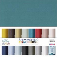 Shimmering Metallics Cardstock Pack ⋆ Lady Pattern Paper Scrapbooking Paper Scrapbook Paper, Scrapbooking, Natural Weave, Classic Collection, Pattern Paper, Color Trends, Card Stock, Craft Projects, Weaving