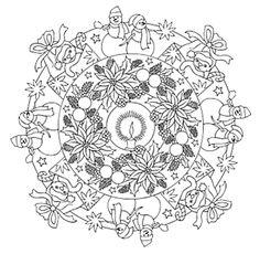 Mandala 732, Christmas Mandalas Coloring Book, Dover Publications