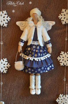 Куклы Тильды ручной работы. Снежный ангел Тильда. TildaClub. Ярмарка Мастеров. Кукла ручной работы, новый год 2014