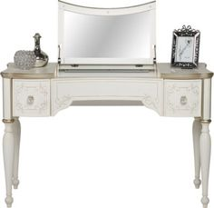 Disney Princess Enchanted Kingdom White Vanity Desk . $399.99. 46.75W x 18.75D x 30H. Find affordable Vanity Sets for your home that will complement the rest of your furniture.#iSofa #roomstogo