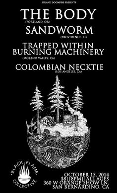 The Body, TWBM, Colombian Necktie - San Bernardino 2014