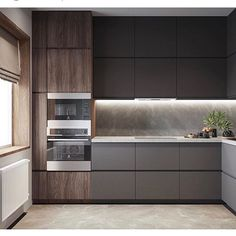 Home Decor Kitchen, Kitchen Cabinet Design, Kitchen Modular, Kitchen Inspiration Design, Condominium Interior Design, Black Kitchen Decor, Kitchen Room Design, Kitchen Cabinets Color Combination, Modern Kitchen Design