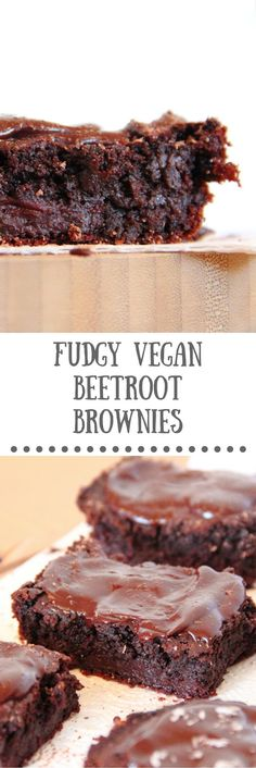 Fudgy Vegan Beetroot Brownies Recipe from The Tofu Diaries