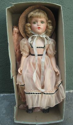 "Madame Alexander Composition Doll 21"" All Original Beautiful in Box 