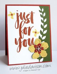 Stampin' Up! Botanicals For You Sale-a-Bration Card