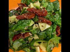 Avocado, Sun-Dried Tomato and Spinach Salad - So Delicious