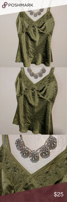 Silky Embroidered Top So beautiful! Pretty embroidery, super soft and flowy. No tag but it feels like real silk! Fits women's S/M. Tops Blouses