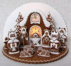 Betlém These are some of tye most amazing gingerbread displays of the Christmas… Gingerbread Village, Gingerbread Decorations, Christmas Gingerbread House, Gingerbread Man, Gingerbread Cookies, Holiday Treats, Christmas Treats, Christmas Fun, Christmas Trivia