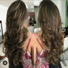Haarschnitt Lange Haare - long layered hair short hairstyles for . Haircuts For Long Hair With Layers, Long Layered Haircuts, Long Hair Cuts, Straight Hairstyles, Layered Hairstyles, Prom Hairstyles, Trendy Hairstyles, Choppy Layers For Long Hair, Hair Styles Long Layers