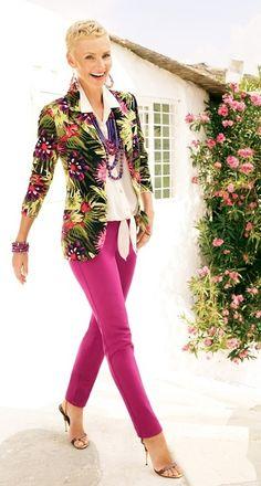 Multi-Colored Floral Blazer
