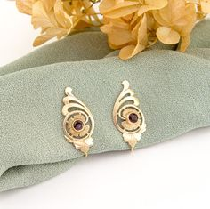 Edwardian Earrings 10k Gold Bohemian Antique by RefinedRuffian