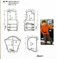 Cosa fácil y sencilla: Sewing Patterns For Kids, Sewing For Kids, Baby Sewing, Baby Patterns, Clothing Patterns, Short Niña, Make Your Own Clothes, Boy Models, Jacket Pattern