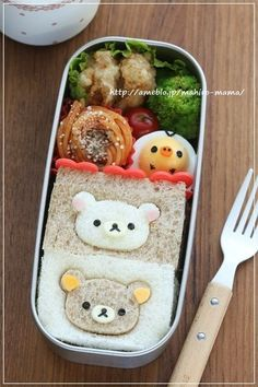 Rilakkuma sandwich - such a cute lunch!