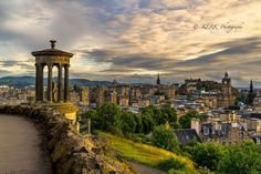 A great view from Calton hill. The old town and the castle behind