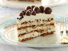 עוגת שכבות של ביסקוויטים פשוטים, ביניהם מונח קרם מסקרפונה קטיפתי. קלה להכנה כמו העוגה הקלאסית, אבל טעימה פי אלף ומרשימה פי מיליון.