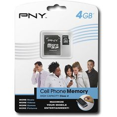 PNY - 4GB microSDHC Memory Card - Black #electronics #tech See detail at http://zingxoom.com/d/cwHHJ8le