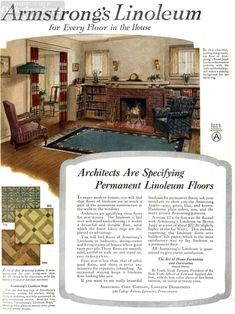 See inside the ideal American home in the '20s #vintagehome #homedecor #20s #flooring