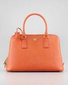 b90d86774c3c Prada Saffiano Small Promenade Crossbody Bag, Orange #Pradahandbags Small  Shoulder Bag, Bergdorf Goodman