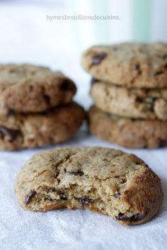 Cookies à la farine de souchet et pépites de chocolat (sans beurre ni huile et sans gluten) – Mes brouillons de cuisine