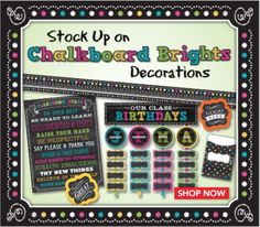1000 Images About Theme Chalkboard Brights On Pinterest
