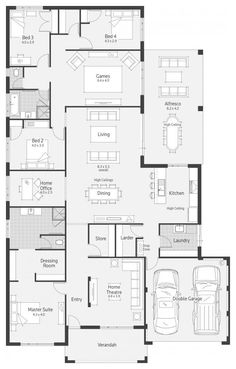 Home Layout Plans 749286456725575756 - Archipelago I Display Home – Lifestyle Floor Plan Source by Bedroom House Plans, Dream House Plans, Modern House Plans, House Floor Plans, Dream Houses, The Plan, How To Plan, Building Plans, Building A House
