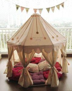 como fazer cabaninhas infantil - Pesquisa Google -  # Kids Tents, Teepee Kids, Teepees, Diy Teepee, Teepee Party, Girl Room, Girls Bedroom, Baby Room, Sleepover Party