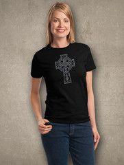 Celtic Cross Rhinestone T-shirt