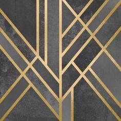 נחשי למה זה מתאים בול... Art Deco Geometry 1 Art Print