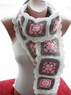 Crochet scarf afghan scarf accessories gift by redrosewholesaler