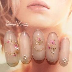 ネイルデザインを探すならネイル数No.1のネイルブック Wedding Manicure, Manicure And Pedicure, Spring Nail Art, Spring Nails, Beauty Nails, Hair Beauty, Flower Nails, Nail File, Nail Arts