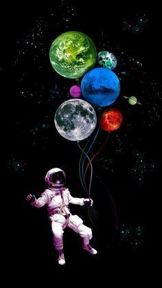 Balloon Planet My Favorite Wallpaper: The universe is mine Planets Wallpaper, Trippy Wallpaper, Phone Screen Wallpaper, Wallpaper Space, Tumblr Wallpaper, Galaxy Wallpaper, Wallpaper Backgrounds, Heaven Wallpaper, Skull Wallpaper