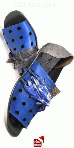 Vamos entrar de cabeça! - Sandália MOL ORIGAMI ABERTA com lenços intercambiáveis - Women's sandals - www.ciaomao.com
