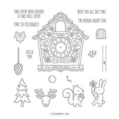 Nutcracker Image, Clocks Inspiration, Dragon Day, Around The World Theme, Clock Craft, Tampons Transparents, Buy Stamps, Christmas Gingerbread House, Scrapbooking