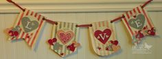 Love Banner made with Stampin' Up! products by Debbie Henderson, Debbie's Designs