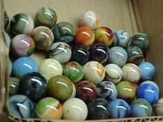 100 MIXED JABO SHOOTER  MARBLES MOSTLY OLDER $50.00
