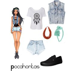 """""""Pocahontas inspired outfit"""" by capanda13 on Polyvore"""