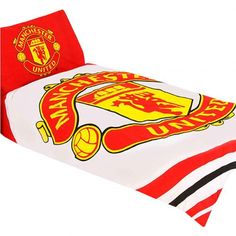 Reversible Manchester United single duvet in club colours and featuring the iconic club crest emblazoned over it. FREE DELIVERY on all of our football merchandise Manchester United Merchandise, Manchester United Gifts, Tottenham Hotspur, Beatrix Potter, Newcastle United Fc, Premier League Teams, Pulsar, Football, Models