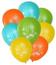 Mad Science Party Balloons  Pack of 8  Geeky by NerdyWordsGifts