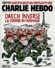Charlie Hebdo - # 1218 - 25 Novembre 2015 - Couverture : Coco