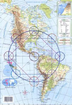North, Central & South America 4000 Mile Medicine Wheel Map