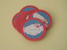 Tags feito em papel 180gr ou scrapbook, podem ser do tamanho desejado. R$ 14,00