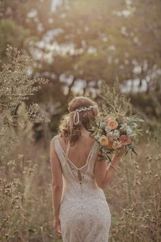 Your dress will be simple and elegant, not too grand for the setting and mood of your organic wedding
