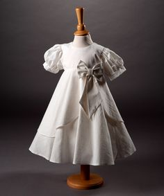 82cd70b9a336 Millie Grace 'Porsche' Linen Look Cotton Tiered Bow Dress | Posh Tots  Online Porsche
