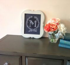 Custom Chalkboard  Monogram Wedding Sign  Chalkboard by LilyandVal, $65.00