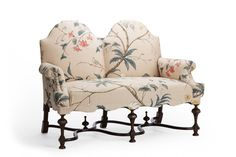 """William and Mary winged settee - """"A Valentine for Daisy"""""""