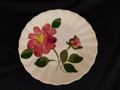 Red Nocturne BREAD PLATE Blue Ridge Southern Pottery have 100s more Blue Ridge  #BlueRidgeSoutheryPottery