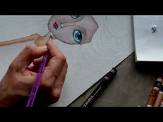▶ Painting a Mixed Media Portrait - Part 2 - YouTube